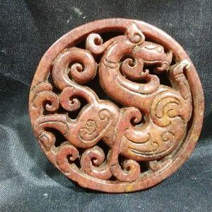 Jade amulet hand carved Jade Jewelry pendant